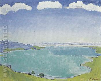 Lake Geneva from Caux 1917 - Ferdinand Hodler reproduction oil painting