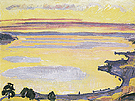 Sunset on Lake Geneva from Caux 1917 - Ferdinand Hodler reproduction oil painting