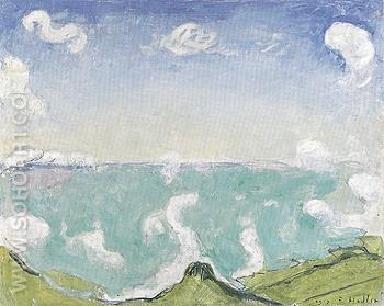 Landscape near Caux with Rising Clouds 1917 - Ferdinand Hodler reproduction oil painting
