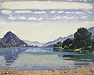 Lake Thun from Leissigen 1904 - Ferdinand Hodler reproduction oil painting