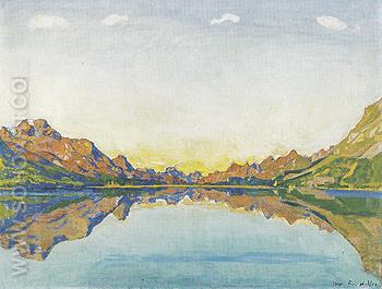 Lake Silvaplana in Fall 1907 - Ferdinand Hodler reproduction oil painting
