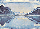 Lake Thun with Symmetrical Reflection 1909 - Ferdinand Hodler reproduction oil painting