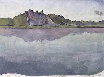 Lake Thun with Stockhorn Range 1910 - Ferdinand Hodler reproduction oil painting