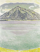 Lake Thun with Niesen 1910 - Ferdinand Hodler reproduction oil painting