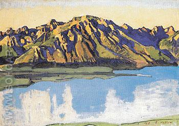Grammont in the Morning Sun 1917 - Ferdinand Hodler reproduction oil painting