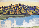 Grammont in the Morning Sun 1917 - Ferdinand Hodler