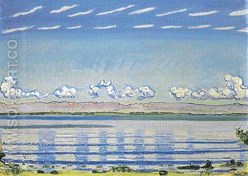 Rhythmic Landscape on Lake Geneva 1908 - Ferdinand Hodler reproduction oil painting