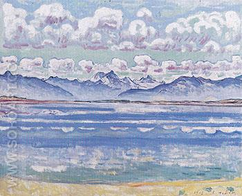 Weisshorn from Montana 1915 - Ferdinand Hodler reproduction oil painting