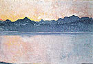 Lake Geneva with Mont Blanc in Morning Light 1918 - Ferdinand Hodler