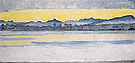 Lake Geneva with Mont Blanc at Dawn 1918 - Ferdinand Hodler