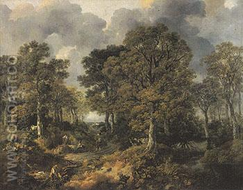 Cornard Wood c1746 - Thomas Gainsborough reproduction oil painting