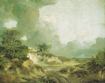 Landscape with Sandpit c1746 - Thomas Gainsborough reproduction oil painting