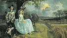 Mr and Mrs Andrews c1748 - Thomas Gainsborough reproduction oil painting