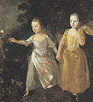 The Painters Daughters Chasing a Butterfly c1756 - Thomas Gainsborough