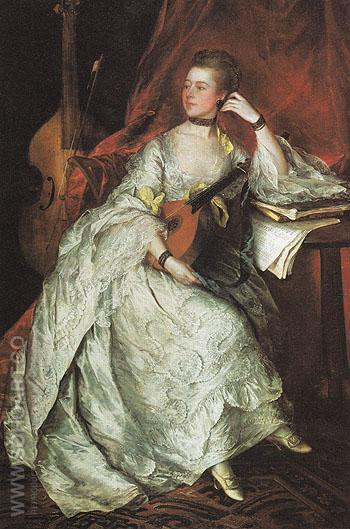 Ann Ford 1760 - Thomas Gainsborough reproduction oil painting