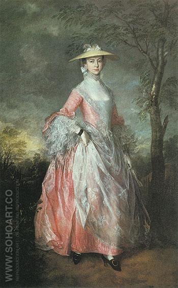Mary Countess Howe c1763 - Thomas Gainsborough reproduction oil painting