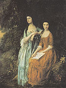 The Linley Sisters 1772 - Thomas Gainsborough reproduction oil painting