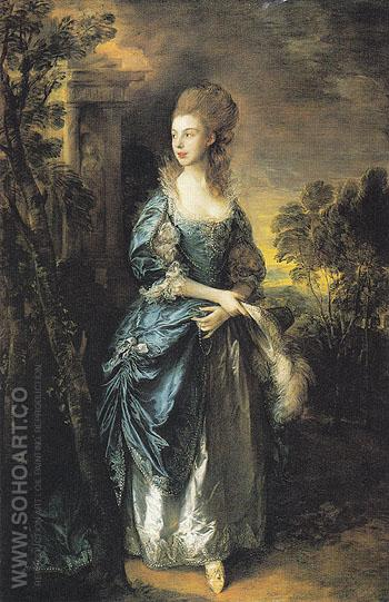 The Hon Frances Duncombe c1775 - Thomas Gainsborough reproduction oil painting