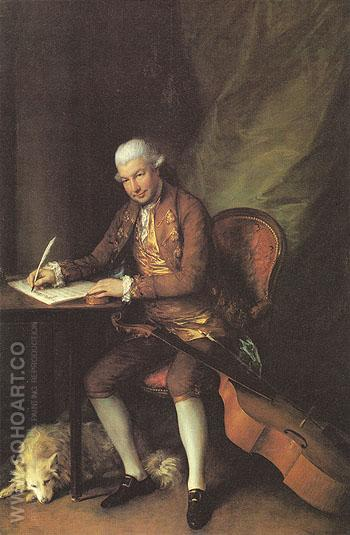 Carl Friedrick Abel 1777 - Thomas Gainsborough reproduction oil painting