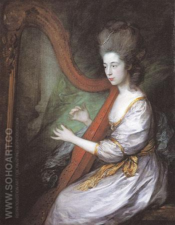 Louisa Lady Clarges 1778 - Thomas Gainsborough reproduction oil painting