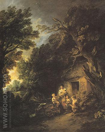 The Cottage Door 1780 - Thomas Gainsborough reproduction oil painting