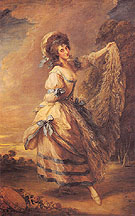Giovanna Baccelli 1782 - Thomas Gainsborough reproduction oil painting