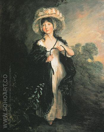 Miss Haverfield c1782 - Thomas Gainsborough reproduction oil painting