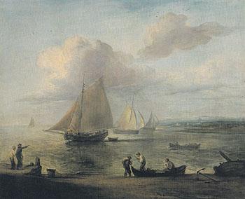 Coastal Scene a Calm 1783 - Thomas Gainsborough reproduction oil painting