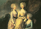 The Three Elder Princesses 1784 - Thomas Gainsborough reproduction oil painting
