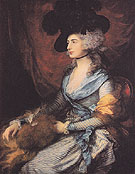 Mrs Siddons 1785 - Thomas Gainsborough reproduction oil painting