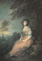 Mrs Sheridan 1785 - Thomas Gainsborough reproduction oil painting
