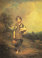 Girl with Dog and Pitcher 1785 - Thomas Gainsborough