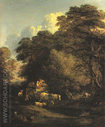 The Market Cart 1786 - Thomas Gainsborough reproduction oil painting