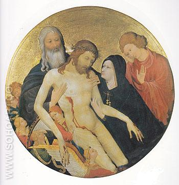 Lamentation for Christ 1400 - Jean Malouel reproduction oil painting