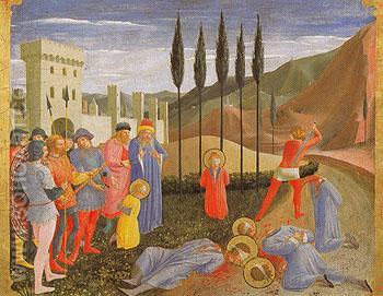 The Martyrdom of Saints Cosmas and Damian - Fra Angelico reproduction oil painting