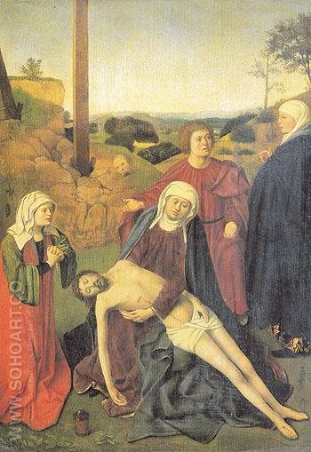 The Lamentation of Christ - Petrus Christus reproduction oil painting