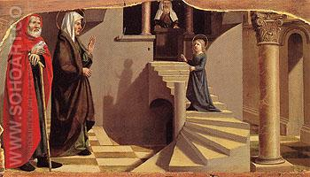 Presentation of the Virgin at the Temple c1500 - Nicolas Dipre reproduction oil painting