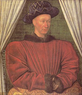 Charles VII King of France 1838 - Jean Fouquet reproduction oil painting
