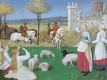 St Marguerite from the Hours of Etienne Chevalier  c1452 - Jean Fouquet reproduction oil painting