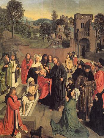 The Raising of Lazarus - Geertgen tot Sint Jans reproduction oil painting