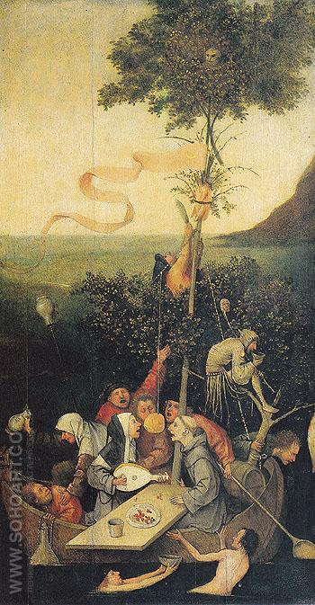 The Ship of Fools - Hieronymus Bosch reproduction oil painting