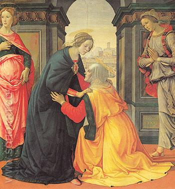 The Visitation - Domenico Ghirlandaio reproduction oil painting