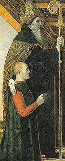 St Augutine with a Kneeling Donor - Bergognone