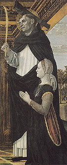 St Peter the Martyr with a Kneeling Donor - Bergognone