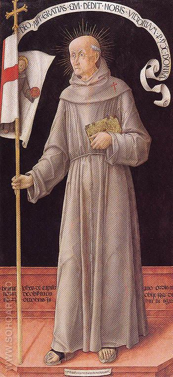 St John of Capistrano - Bartolomeo Vivarini reproduction oil painting