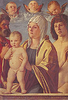 The Virgin and Child between St Peter and St Sebastian - Giovanni Bellini reproduction oil painting