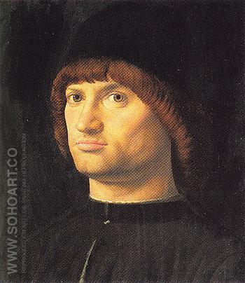 Portrait of a Man 1475 - Antonello da Messina reproduction oil painting
