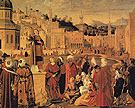 St Stephen Preaching at Jerusalem - Vittore-Capaccio reproduction oil painting