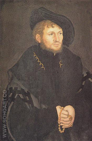 Portrait of a Lord of Kockeritz - Lucas Cranach reproduction oil painting