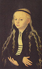 Portrait Supposed to be of Magdalena Luther - Lucas Cranach reproduction oil painting